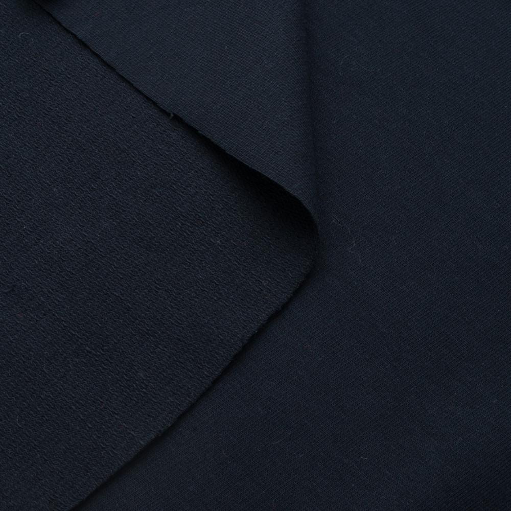 Трикотаж Футер двунитка. Темно синий. Купить оптом в Украине, от рулона
