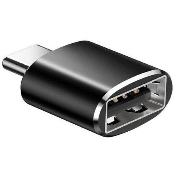 Адаптер USB Epik 3.1 Type-C Male to USB 3.0 Female Aluminium 02 Black