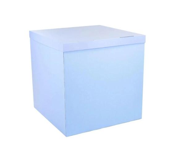 Коробка сюрприз для воздушных шаров голубая 700х700х700 мм