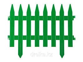 """Забор декоративный """"РЕЙКА"""", 28 х 300 см, зелёный, 7 секций // PALISAD 65005"""