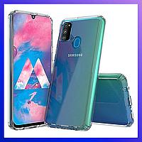 Захисний чохол Samsung Galaxy M31, силиконовый, прозрачный, защитный чехол