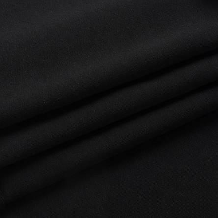 Трикотаж Футер двунитка. Черный. Купить оптом в Украине, от рулона, фото 2