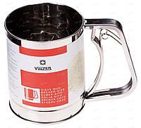 Кружка-сито из нержавеющей стали Vinzer 89254 | сито для просеивания муки | ситечко просеиватель муки Винзер, фото 1