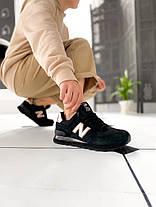 Женские кроссовки New Balance 574 Black/Gold, фото 2