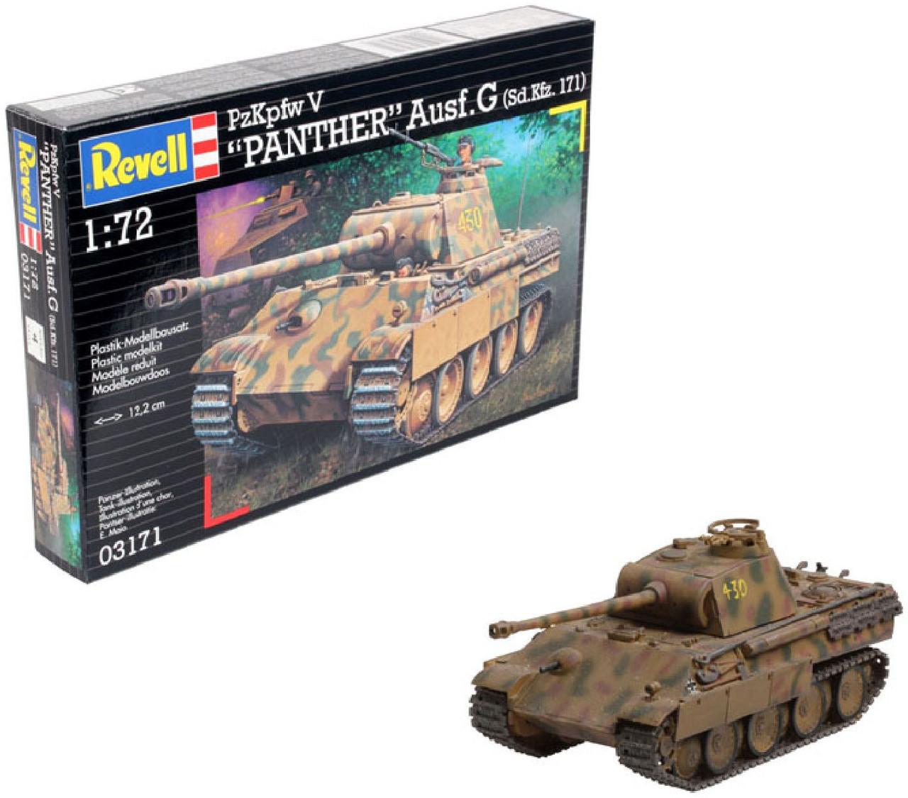 Збірна модель-копія Revell Пантера Танк рівень 4 масштаб 1:72 (RVL-03171)