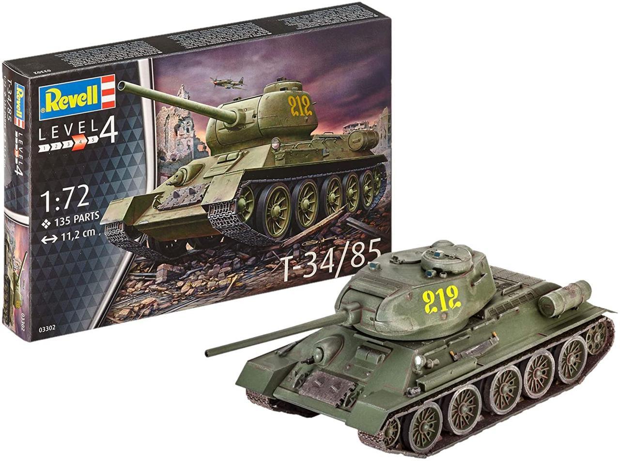 Сборная модель-копия Revell Танк Т-34/85 уровень 4 масштаб 1:72 (RVL-03302)