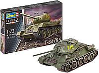 Сборная модель-копия Revell Танк Т-34/85 уровень 4 масштаб 1:72 (RVL-03302), фото 1