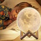Ночник светильник настольный лампа Луна Moon lamp 13 см, фото 3