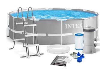 Бассейн каркасный Intex 26718 (366х122 см) с комплектом аксессуаров