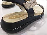 Шкіряні сандал золотого кольору, фото 3