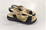 Шкіряні сандал золотого кольору, фото 2