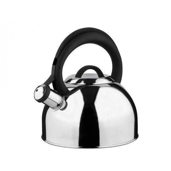 Чайник со свистком Vinzer Basel 89016 (2,6 л) из нержавеющей стали, бакелит.ручка   чайник для плиты Винзер