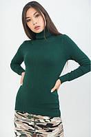 Трикотажная Водолазка Тёмно-Зеленая арт.2816 M/L