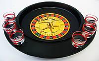 Рулетка с рюмками черные