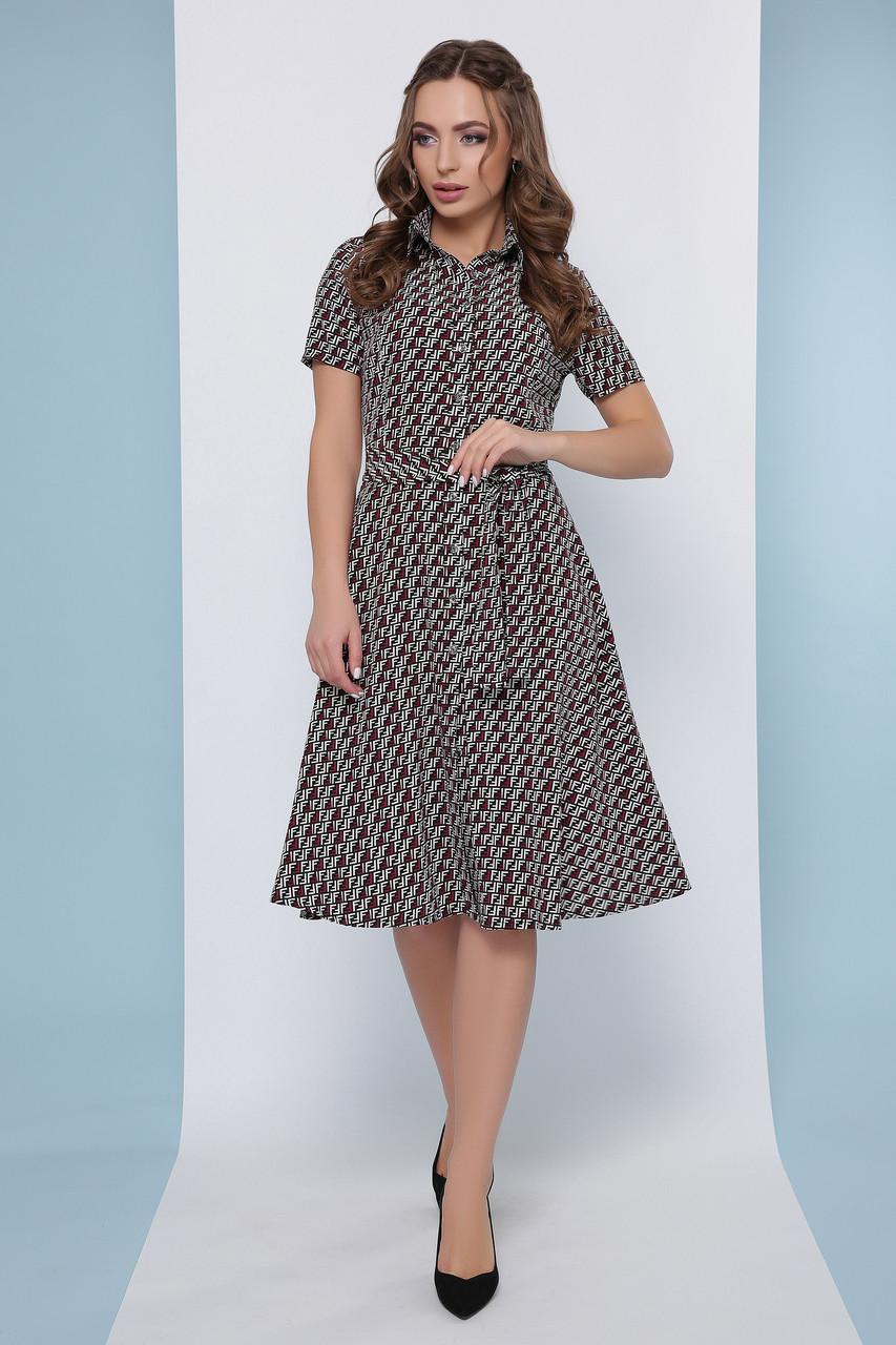 Платье рубашка летнее среднее черно-белое миди, супер Софт, с поясом в комплекте. Размеры 46, 48, 50, 52