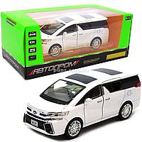 Машинка игровая автопром «Toyota» металл, белая, 20 см, (свет, звук, двери открываются) 7684W