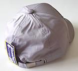 Кепка детская хлопковая (48-50 см) светло-серая, фото 2