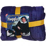 Плед-двухсторонняя толстовка Huggle Hoodie, синий, фото 2