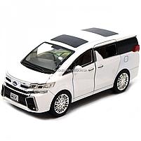 Машинка ігрова автопром «Toyota» метал, біла, 20 см, (світло, звук, двері відкриваються) 7684W, фото 4