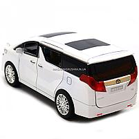 Машинка ігрова автопром «Toyota» метал, біла, 20 см, (світло, звук, двері відкриваються) 7684W, фото 5
