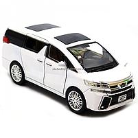 Машинка ігрова автопром «Toyota» метал, біла, 20 см, (світло, звук, двері відкриваються) 7684W, фото 6
