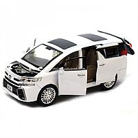 Машинка ігрова автопром «Toyota» метал, біла, 20 см, (світло, звук, двері відкриваються) 7684W, фото 7