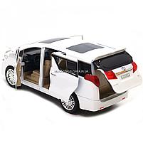Машинка ігрова автопром «Toyota» метал, біла, 20 см, (світло, звук, двері відкриваються) 7684W, фото 8