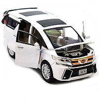 Машинка ігрова автопром «Toyota» метал, біла, 20 см, (світло, звук, двері відкриваються) 7684W, фото 10