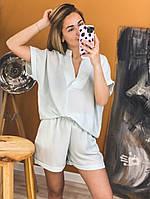 Женский костюм с шортами летний стильный в разных цветах (Норма)