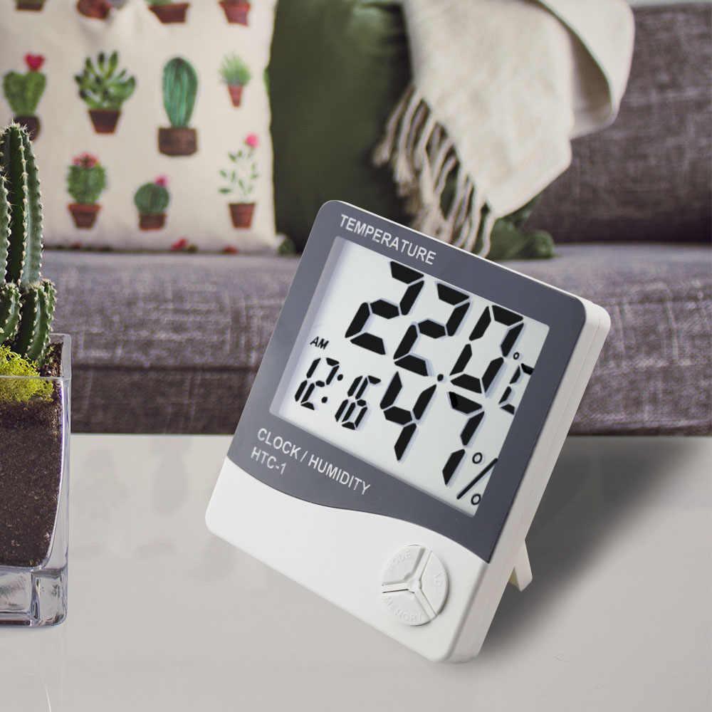 Термометр, гигрометр, метеостанция, часы HTC-1
