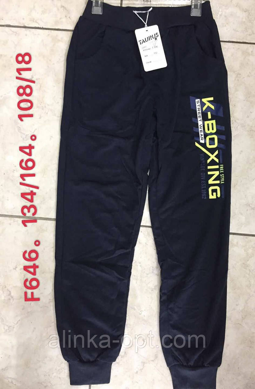 Спортивные брюки для мальчиков Taurus оптом, 134-164 рр. Артикул: F646