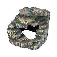 Декорация для террариума Trixie Грот угловой со ступеньками 19 x 17 x 17 см (пластик)