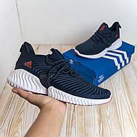 Adidas Alphabounce синие адидас кроссовки кросовки мужские кеды