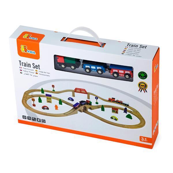 Деревянная железная дорога Viga Toys 49 эл. (56304)