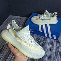 Adidas Yeezy Boost 350 адидас изи салатовые кроссовки женские кросовки кеды