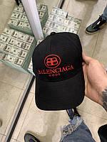 Кепка Balenciaga черная красный принт Бейсболка кепка мужская женская Баленсиага с логотипом