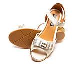 Туфли Fashion A02(32-37)бел.золото каблук, фото 2