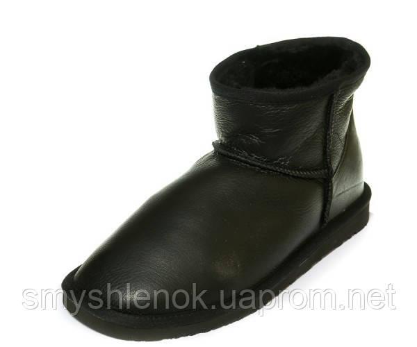 Угги Ankara 111211(2002)Man корот чёрная кожа