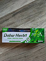 Зубна паста Dabur Базилік, Dabur Herb'l Basil Natural Toothpaste 150 гр + щітка