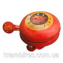 Звонок на руль KLS - Bell 60 Kids Красный
