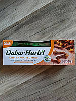Зубная паста Dabur Гвоздика,  Dabur Herb'l Clove Natural Toothpaste, 150 гр + щётка