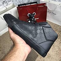 Gucci Signature High Top Black, фото 1