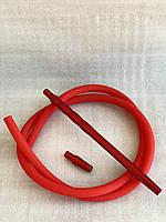 Трубка для Кальяна Queen | Силиконовый Шланг Soft Touch + Мундштук и коннектор | Красная