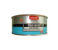 Шпатлёвка со стекловолокном NOVOL Fiber Mikro 1 кг.