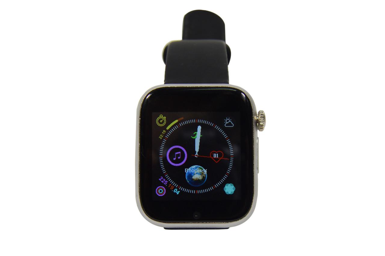 Розумний годинник-телефон Smart Watch Z6S з камерою та слотом під СІМ карту сірі