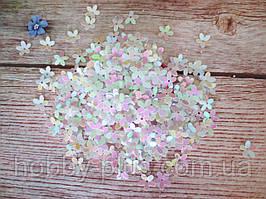 """Наполнитель для пакет-шейкера для аквабантиков, """"Цветочек"""", d 10 мм, цвет белый с переливом, 5 грамм"""