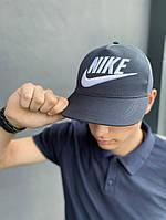 Тракер кепка Nike серый Большой логотип, фото 1
