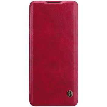 Кожаный чехол (книжка) Nillkin Qin Series для OnePlus 8