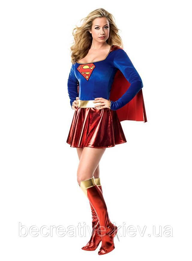 Женское карнавальное платье Supergirl