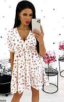Платье летнее женское легкое супер-софт 42-48р.,цвет белый